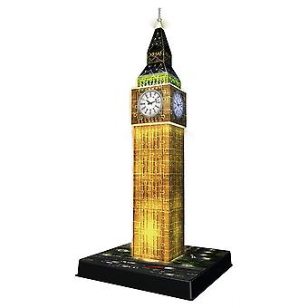 216pc 3D Jigsaw Puzzle Ravensburger Big Ben Night Edition