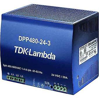 TDK-Lambda DPP-480-24-1 Rail mounted PSU (DIN) 24 V DC 20 A 480 W 1 x
