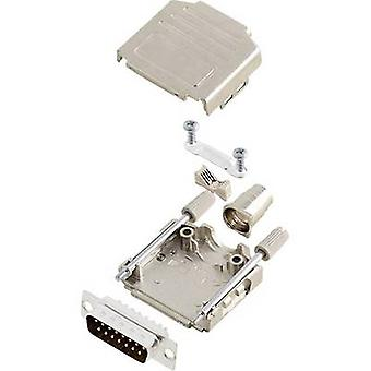 encitech DPPK15-M-DMP-K 6355-0004-22 D-SUB PIN strip set 180 ° aantal pinnen: 15 soldeer emmer 1 set