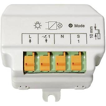 Homematic 91816 HM-LC-DIM1T-FM Wireless reverse phase control dimmer 1-channel Flush mount 180 VA