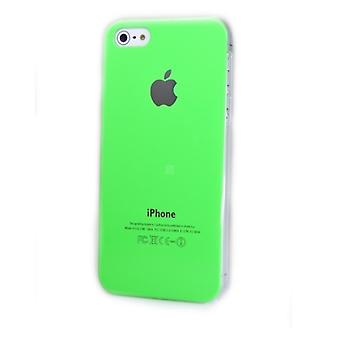 IPhone 5 Hard Plastic Cover Back Case with Apple Logo - Green