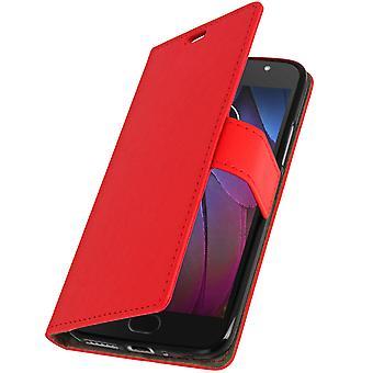 Tapa caja monedero, delgada de la cubierta para Motorola Moto G5S, cáscara de silicona - rojo