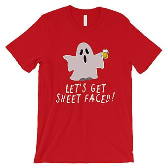 Let's Get Sheet confronté Mens rouge T-Shirt