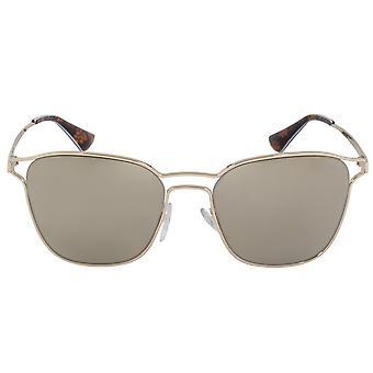 Prada Cinema Square Sunglasses PR54TS ZVN1C0 55 | Gold Frame | Gold Mirror Lenses