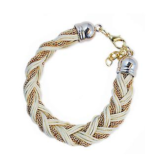 Armband Ø goud wit