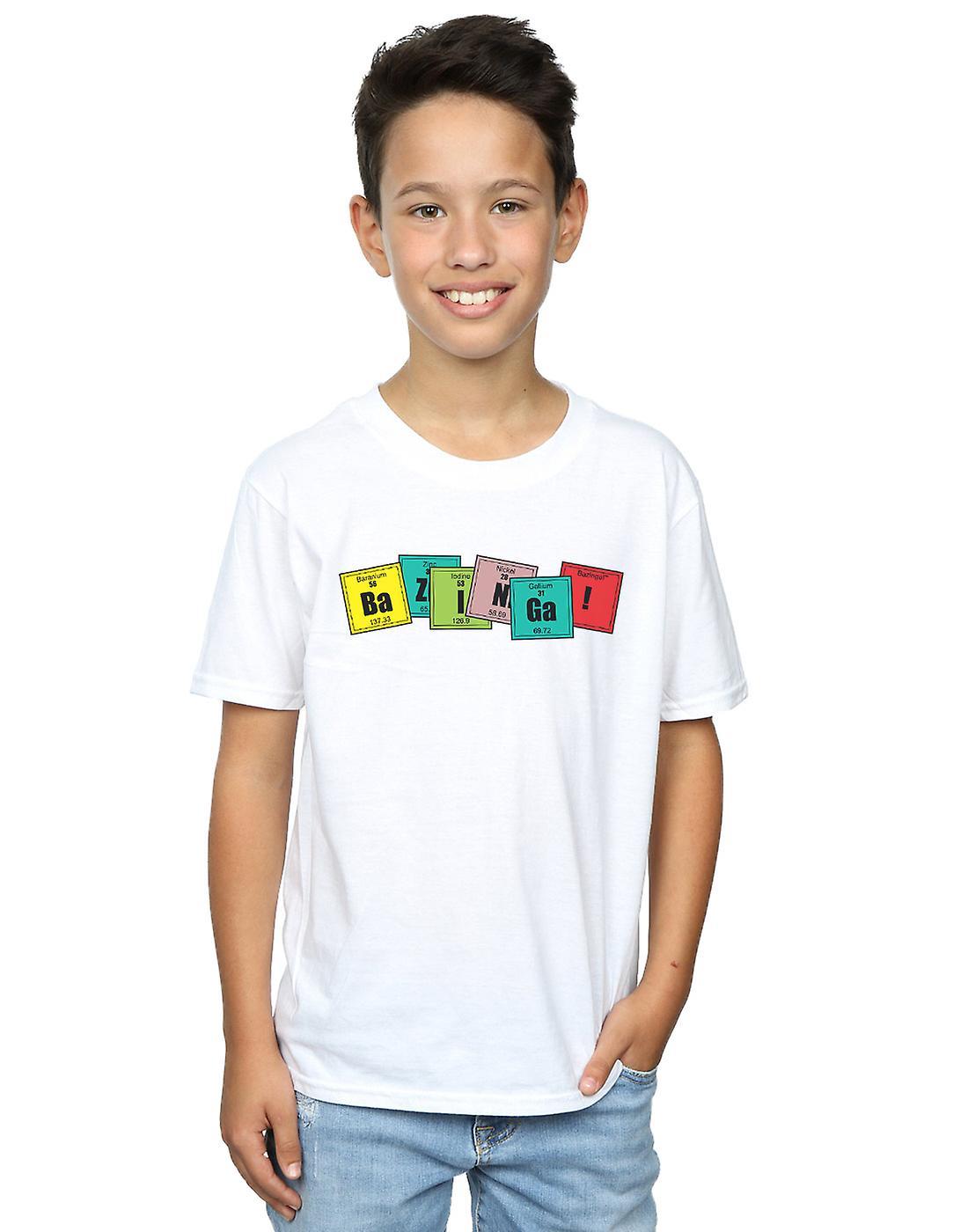 The Big Bang Theory Boys Bazinga Elements T-Shirt
