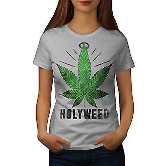 Malas hierbas hierba de Canabis GreyT-camisa de la mujer | Wellcoda