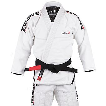 Tatami Fightwear Estilo 6.0 Mens BJJ Gi bianco/nero