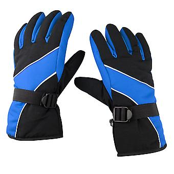 TRIXES Warm Outdoor Cold Weather Winter Sports Snow Gloves Black & Blue