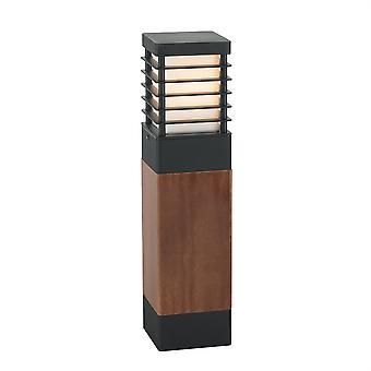 Halmstad Outdoor Large Wooden Bollard - Elstead Lighting H / Stadsw L E27 B