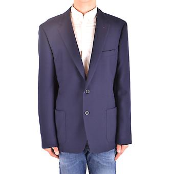 Fay Ezbc035056 Men's Blue Wool Blazer