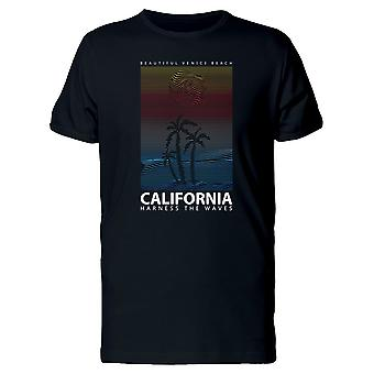 Tropical California Palm Tress Tee Men's -Image by Shutterstock