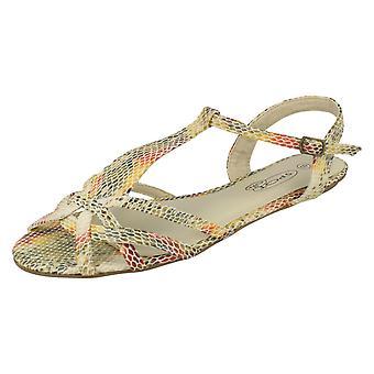 Dames plek op Snake Print sandalen