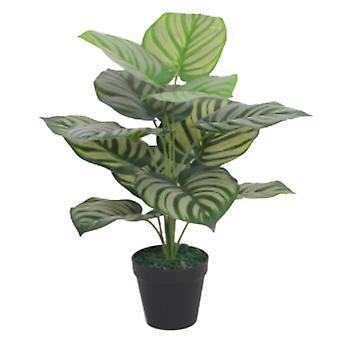 60cm künstliche Grüngeflammt Blatt Pflanze
