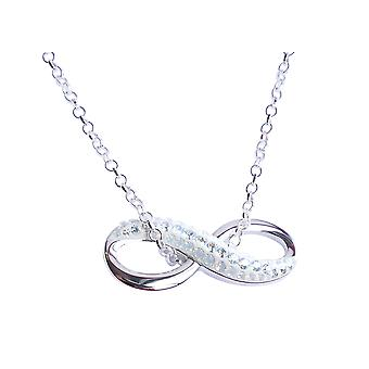 Ah! Jewellery Pave Infinity Pendant From Swarovski Necklace. Sterling Silver