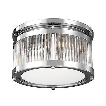 Elstead-2 Light Flush Mount-finition chrome-FE/PAULSON/F/S