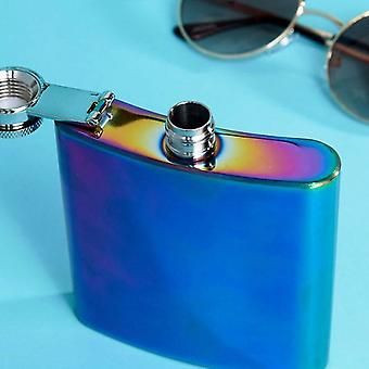 Iridescent Colourful 6oz Hip Flask