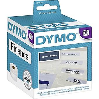 DYMO Label roll 99017 S0722460 50 x 12 mm Paper White 220 pc(s) Permanent Suspension file labels