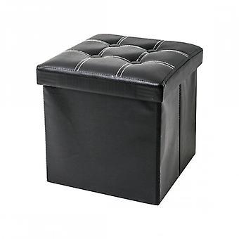 Muebles Rebecca Puff Taburete Negro Baule Cubo Diseño Muebles Modernos 30x30x30