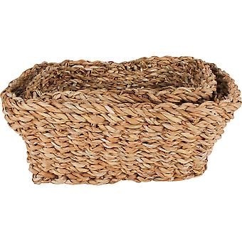 Seagrass Rectangle Basket (Set Of 3)