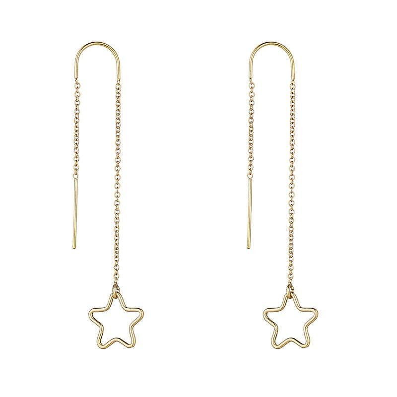 14kt Gold Filled Star Threader Earrings