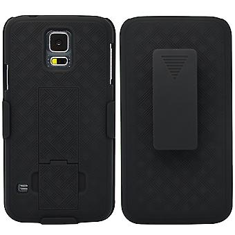 Unlimited Cellular Rubberized Shell Holster Combo for Galaxy S5