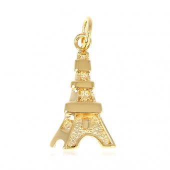 Pendentif Plaqué Or Tour Eiffel
