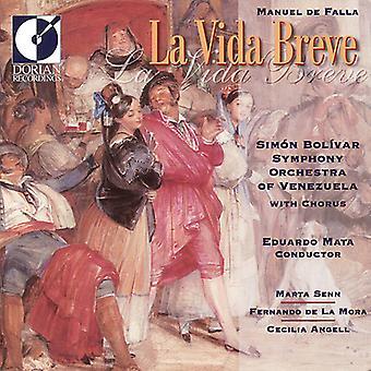 Simon Bolivar Symphony Orchestra of Venezuela - Manuel De Falla: La Vida Breve [CD] USA import