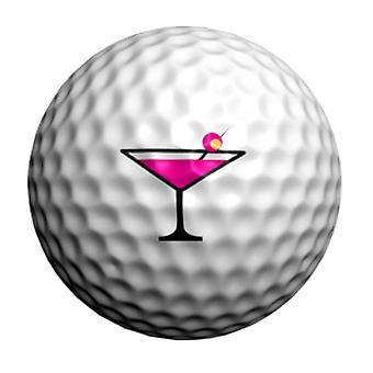 Golf Dotz Golf Ball Marker ID siirrot vaaleanpunainen cocktaileja