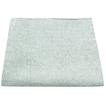 Mint Green Herringbone Pocket Square, Handkerchief