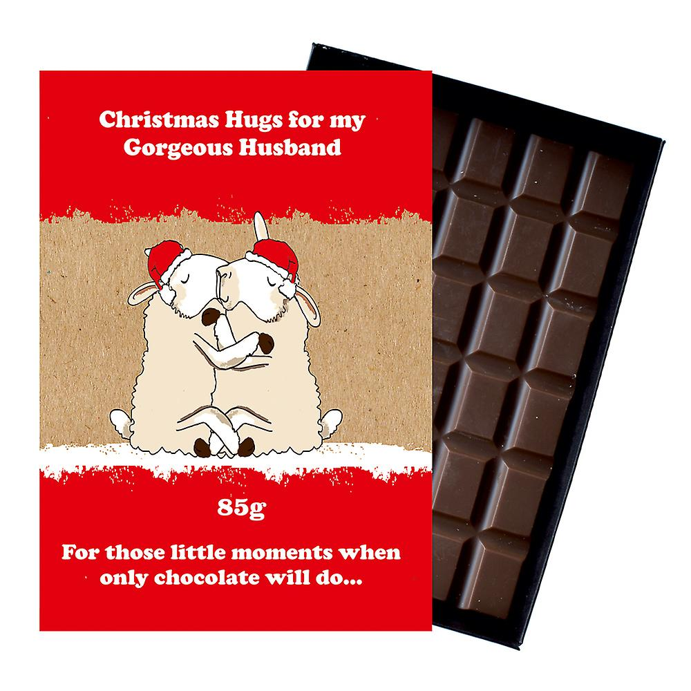 Funny Christmas Gift for Wife Civil Partner Women Boxed Chocolate Xmas Present for Women XMS104