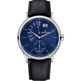 Edox 34500 3 BUIR Les Vauberts relógio masculino