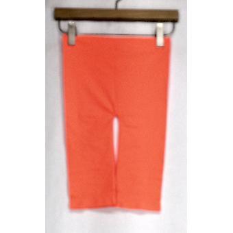 MOPAS Leggings Stretch Knit Cropped Seamless & Slimming Orange