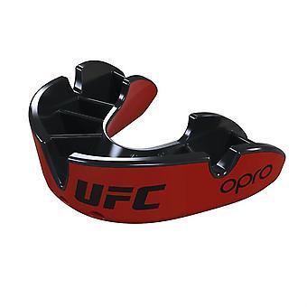 Opro Junior UFC Silber Mund Guard rot/schwarz