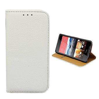 HTC Desire 628 Leather Case White - Bookcase