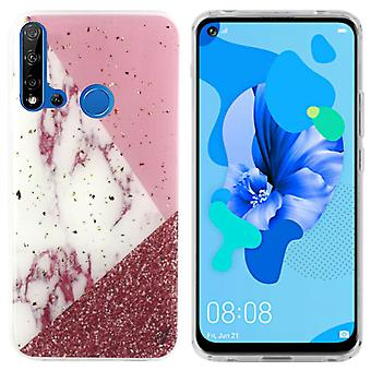 Back Cover Marble Glitter for Huawei P20 Lite 2019 White