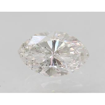 Certificato 0,38 Carat E VS2 Marquise Migliorato Naturale Sciolto Diamond 5.86x3.7mm