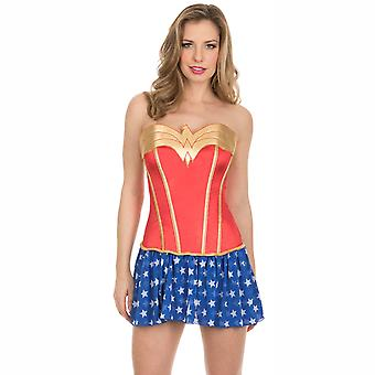 Wonder Woman Corset With Skirt