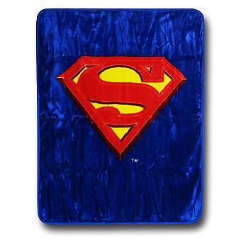Superman symbol luksus plysj teppe