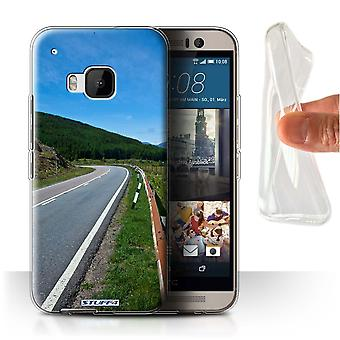 STUFF4 Gel/TPU Case/Cover für HTC One/1 M9/Road/schottischen Landschaft