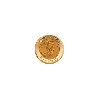 14k Yellow Gold St. Michael Lapel Pin 15mm Jewelry Gifts for Men - 1.4 Grams