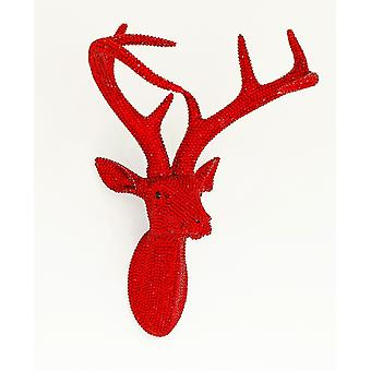 Arthouse Star Studded Stag Head Diamante Cerf Mountable Wall Art Ruby 008220