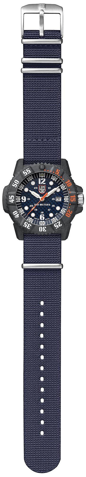 Luminox Master Carbon SEAL 3800 Series Blue Canvas Strap Men's Watch XS.3803.C
