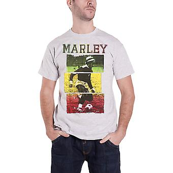 Bob Marley T Shirt Jamaican Football Rasta Logo New Official Mens