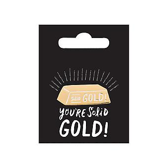 Ohh Deer You're Solid Gold Enamel Pin