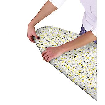 Country Club Ironing Board Cover, Grey and Yellow Flowers