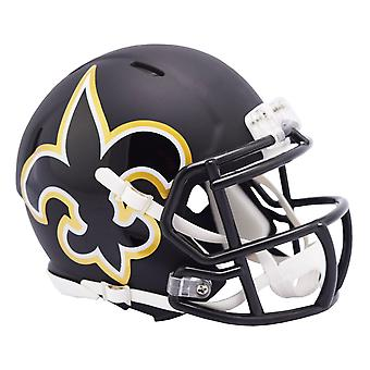 Riddell Speed Mini Football Helmet - AMP New Orleans Saints