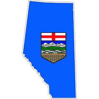 Adesivo Adesivo Adesivo Adesivo Vinyl Car Bandiera Alberta Canada Mappa
