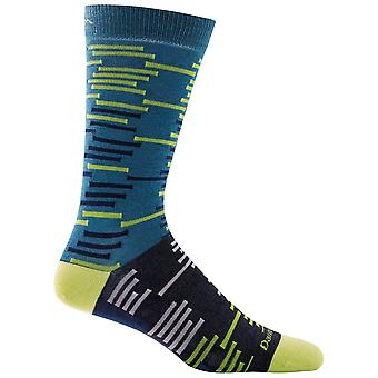 Darn Tough Blue Herren Dashes Crew Leichte Socke