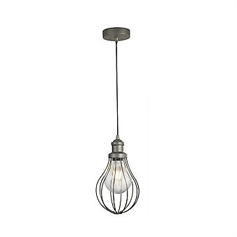 Searchlight Balloon Cage 1 Light Cage Pendant Silver 1381-1PW